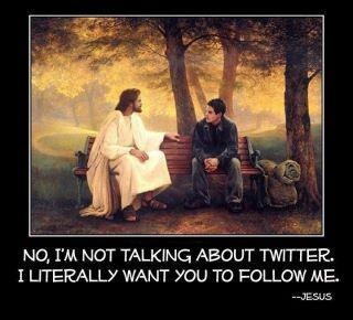 follow jesus twitter