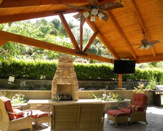 Awesome-Craftsman-Wood-Patio-Cover-on-Tropical-Porch